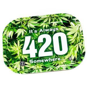 Δίσκος Καπνού - 420 Green Rolling Tray 27x16