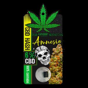 Euphoria CBD Hash 6% Amnesia 1gr  (Aπόσταγμα - Solid)