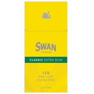 Swan Filter Classic Extra Slim Yellow 5.7mm 120pcs