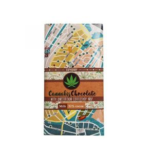 Milk Chocolate With Coffeshops Map – 80gr