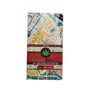Dark Chocolate With Coffeeshops Map – 80gr