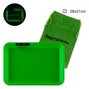 Amsterdam Acryl Multi Colors Led Tray Green L:26cm W:21cm With Bag