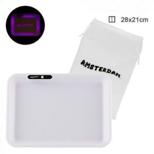 Amsterdam Acryl Multi Colors Led Tray White L:26cm W:21cm With Bag
