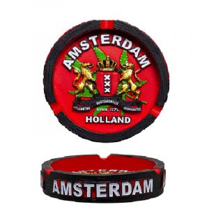 Amsterdam Τασάκι Clay Ashtray Red With Amsterdam XXX Logo
