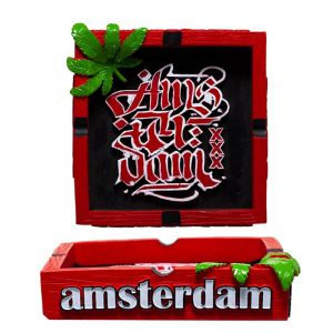 Amsterdam Τασάκι Red With Amsterdam XXX Logo