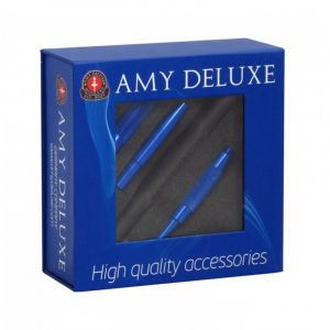Amy Deluxe Silicone Hose With Aluminium Mouthpiece In Box Blue