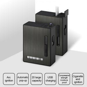 Case Lighter Single Black Cigarette
