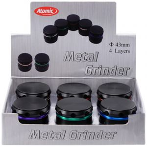 Atomic Grinder 4,3cm 4part Black/Mixed Colors