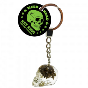 Euphoria Weed Head Key Ring With Cannabis