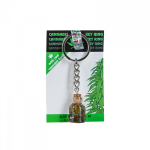 Euphoria Key Ring With Cannabis