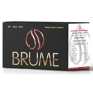 Brume Premium Coco Κάρβουνο 25*25*25 1kg -72τμχ