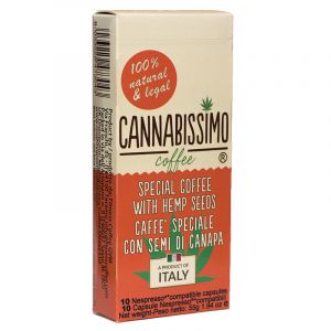 Cannabissimo Coffee With Hemp Seeds Capsule In Box 10 for Nespresso Machines