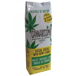 Cannabissimo Coffee with Hemp Leaves Groud 250g