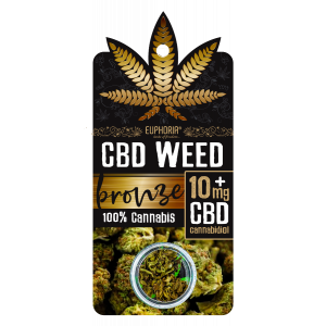 Euphoria CBD Weed Bronze 10 mg 0,9 gr (Ανθός Κάνναβης)
