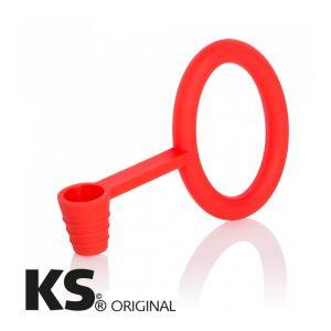 KS Tongo Φλάντζα & Στήριγμα Σωλήνα Red