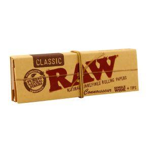 Raw Μικρό Μονό Τσιγαρόχαρτα + Τζιβάνες  50 φύλλα