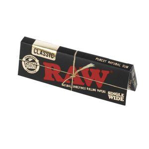 Raw Black Τσιγαρόχαρτα Μικρό Μονό 60 φύλλα