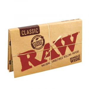 Raw Classic Single Wide Double Feed Rolling Papers 100τμχ