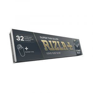 Rizla Χαρτάκια Slim King Size Silver +Tips 32 φύλλα 32 τζιβάνες