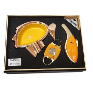 Cohiba Set Cigar Accesories Smoke-2Y Yellow (Gift Box)