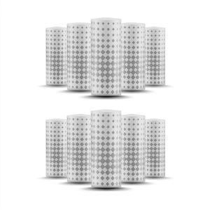 Zeep Mini Cotton Drip Tip Filters 10 Pc